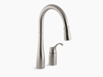 hole kohler vs sink dp spout pull faucet with down three simplice dispenser kitchen quot faucets k