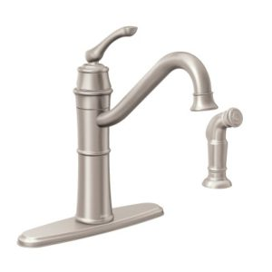 Moen 87999SRS High-Arc Kitchen Faucet with Side Spray