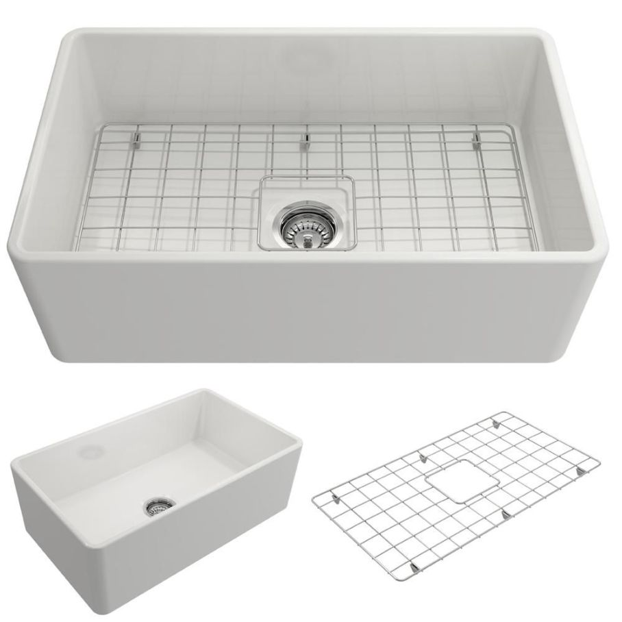 Bocchi Classico Farmhouse Apron Front Fireclay Kitchen Sink