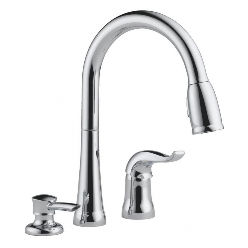 Delta Faucet Kate Single Handle Kitchen Sink Faucet With Pull-Down Sprayer