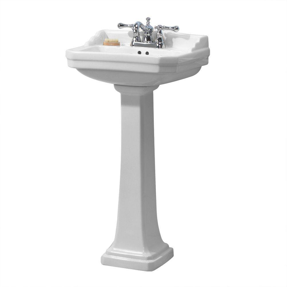 Foremost Series 1920 FL-1920-4W Pedestal Combo Bathroom Sink