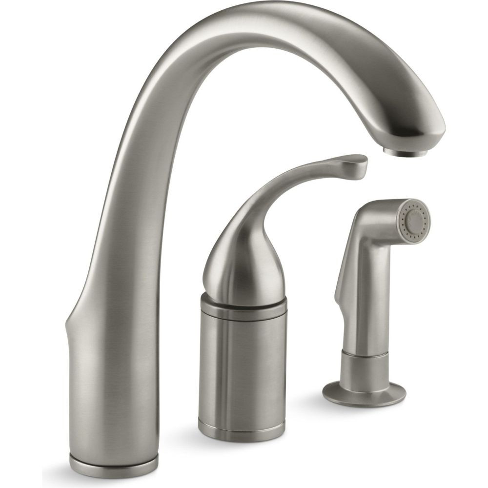 Kohler K-10430-VS Forte Single Control Remote Valve Kitchen Sink Faucet