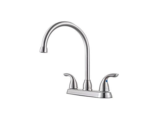 Pfister G136-22S Pfirst Series 2-Handle Kitchen Faucet In Stainless Steel