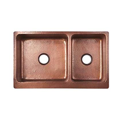 Signature Hardware 397527 Tegan Copper Farmhouse Sink