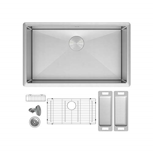 Zuhne Modena Undermount Single Bowl Stainless Steel Kitchen Sink