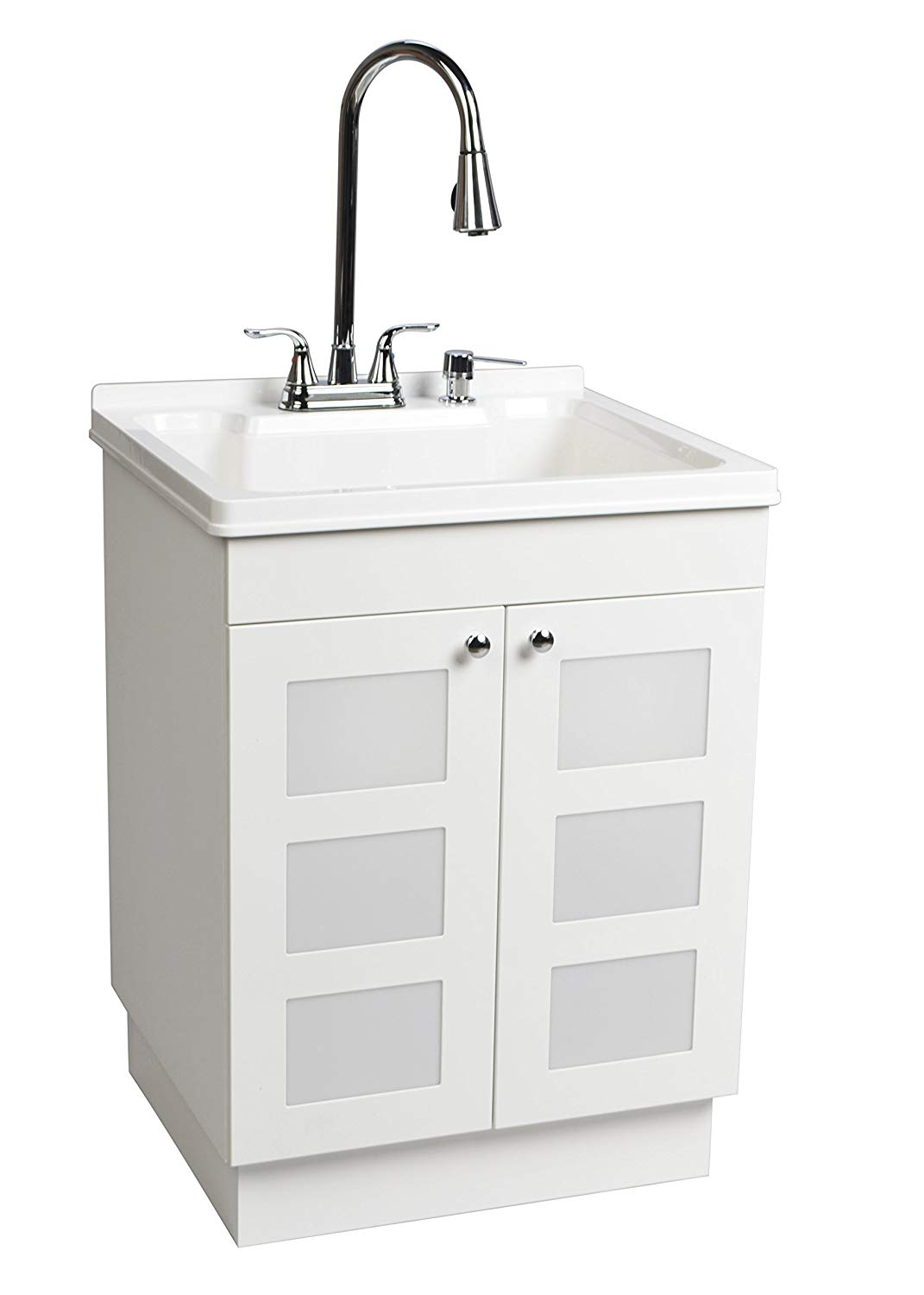 Exquisite LDR 77712CP-SD Laundry Utility Cabinet Sink Vanity Chrome Faucet