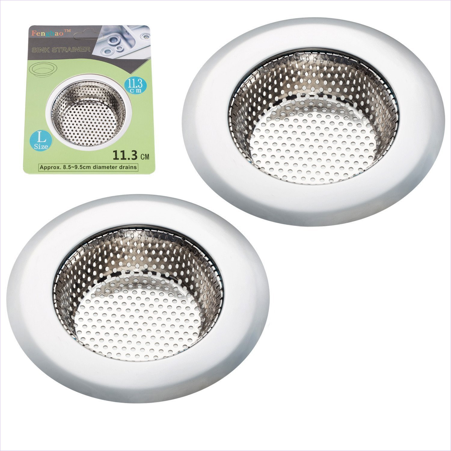 Fengbao 2 pcs Kitchen Sink Strainer