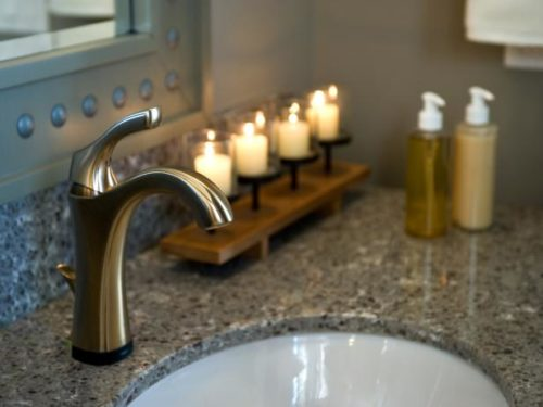 Bathroom Sink with candles